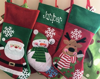 Personalized Christmas Stockings- Snowman