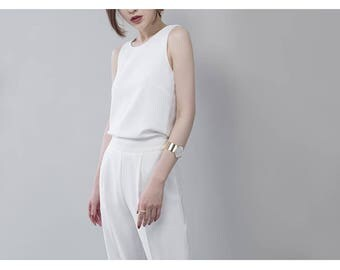 White backless Jumpsuit