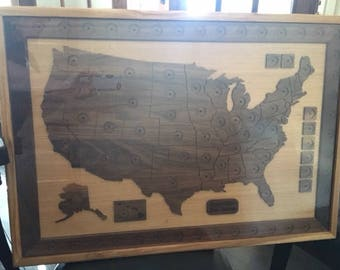 Collectible Quarters Map United States
