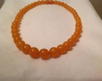 Really brown yellow amber necklace
