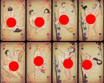 Erotic playing cards KAMASUTRA