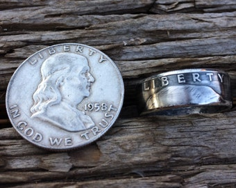 Benjamin franklin half dollar ring