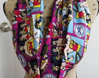 Wonder - woman - dc - comics - justice - league  -  superhero - infinity  - scarf