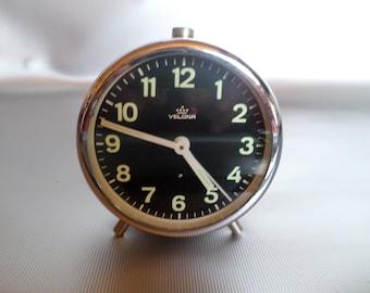 Vintage Velona alarm clock/alarm/wecker/réveil/West Germany, original 1960s