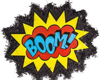 Boom! Pop! Comic Word Pinata Super Hero Pinata For Birthdays, Partys