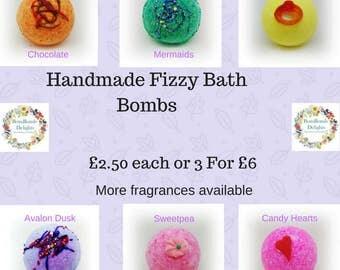 Various Fizzy Bath Bombs