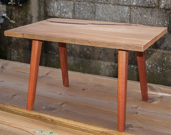 Live Edge Coffee Or End Table In Elm