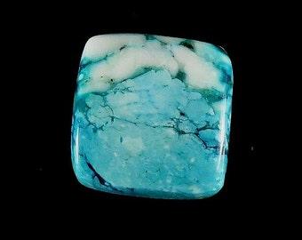 30Ct 22X22X5.5mm Natural Tibetan Turquoise Square Shape Cabochon Jewelry Making Loose Gemstone Cabochon Gemstone Semi Precious Stones B-0711