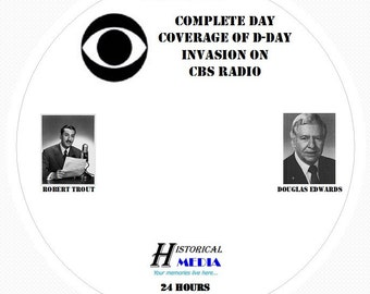 D-DAY: Complete Day Coverage From CBS Radio - Old Time Radio MP3 Format OTR 1 Compact Disc
