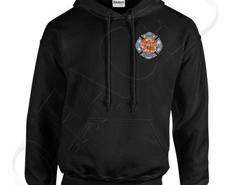 Firefighter Adults Hooded Outerwear Firefighter Men's Hoodies Rescue Fire Department Sweatshirt - 1281P_GUHD