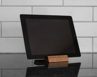 Walnut and Maple iPad Stand