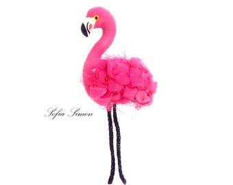 Silk Flamingo clip