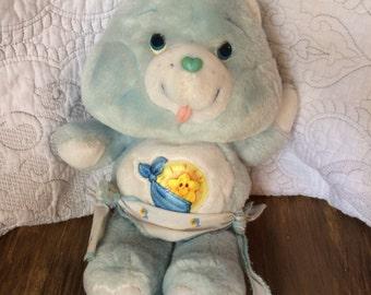 Vintage 1983 Care Bears Baby Tugs Plush - American Greeting Kenner Stuffed Bear