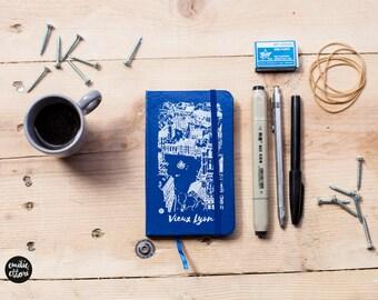 """Notebook, Petit Carnet de notes """" Vieux Lyon """", Journal couverture cartonnée,  90 pages, 14,5x8,5cm"""