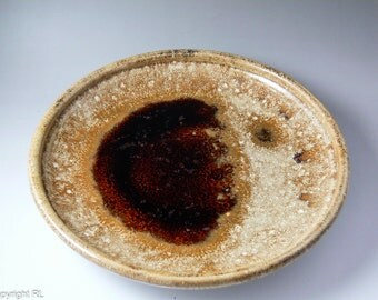 Ceramic serving plate, Handmade serving plate, Wheel thrown plate, Tableware, Ceramics Art, Women's gift ideas, Home decor, Red Moon, Big