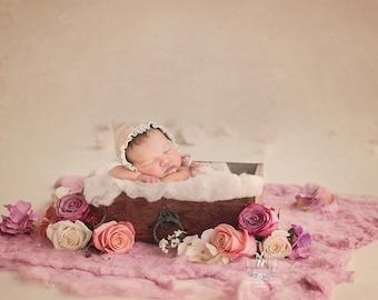 Newborn Digital Backdrop fresh Floral drawer (Mohana)