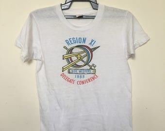 Vintage 60s Boy Scout American BSA 1963 Jamboree T Shirt