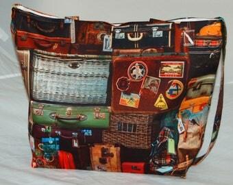 Women's Handcrafted Handmade Tote Bag Suitcase Shoulder Bag