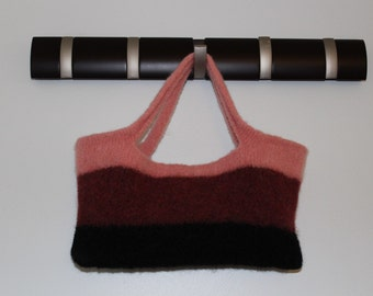 Pink Felted Tote
