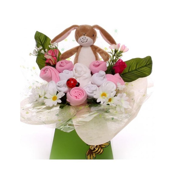 Guess How Much I Love You Baby Bouquet for a Girl.