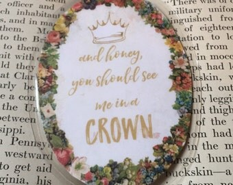 """BBC Sherlock, Jim Moriarty Quote Oval Double-Sided Laminated Bookmarks - """"You Should See Me In A Crown"""""""