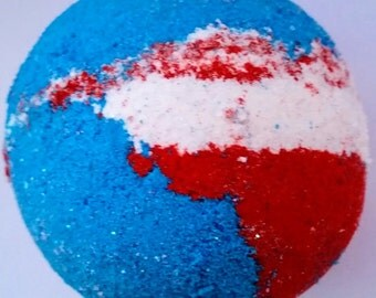 Blue Bath Bomb/Red White Blue Bath Bomb/USA Bath Bomb/Novelty Bath Bomb