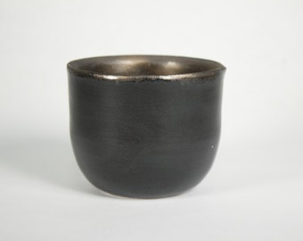 Black and Gold small ceramic cup