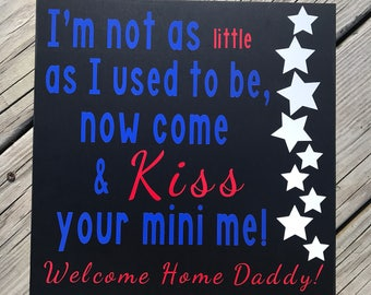 Military Homecoming Sign, Welcome Home Daddy Sign, Welcome Home Sign, Military Kids Sign, Deployment Homecoming,