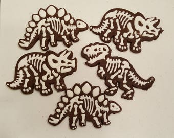 Dinosaur Skeleton Cookies