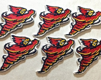 6 small Iowa State Cyclones Embroidered Iron on Patches