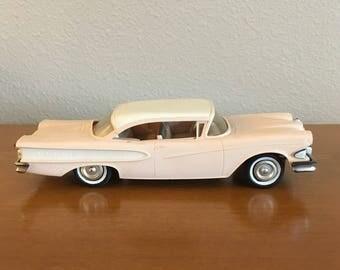Vintage 1958 Ford Edsel Promo Model Car- Pale Pink Model Car