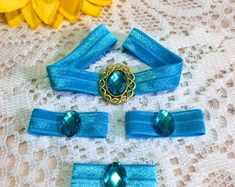 1 Set Princess Jasmine's set of Elastic Headband and 3 Hair Bands