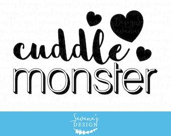 Cuddle monster svg, monster svg files, cuddle monster, monster svg, tshirt sayings svg, monster shirt cricut cut file, baby sayings svg