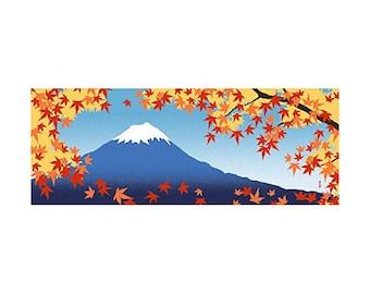 Hamamonyo Nassen Tenugui Towel The views of Mount Fuji of Autumn