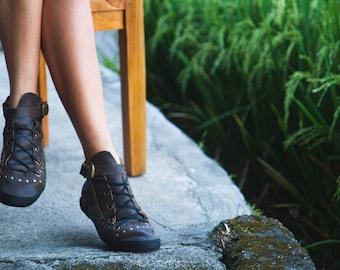 Leather Brown Keds, Wild Rider Keds, HANDMADE Leather Shoes, Leather Sneakers, Woman leather Sneakers, Vintage leather Sneakers