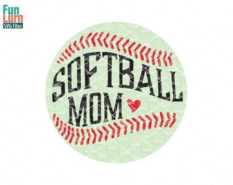 Softball Mom svg, That's my girl out there, Heart, softball, Digital Cutting File , svg png dxf eps zip for silhouette, cricut machines