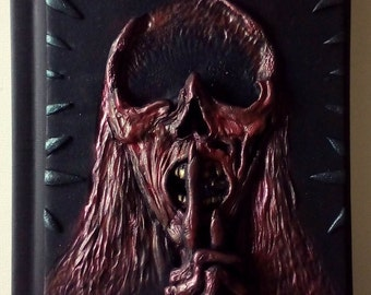 Ghost from Crimson Peak, polymer clay journal, notebook, horror, 98 blank sheets