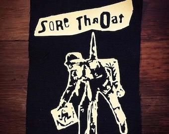 Sore Throat Logo Band Patch Crust Punk Grindcore