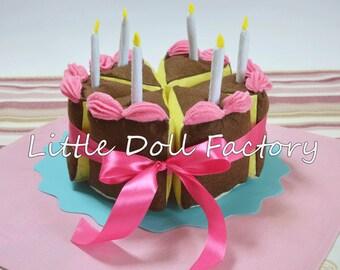 Handmade felt cake, toys for kids, felt food, birthday cake, cake soft toy, felt cake, children gift