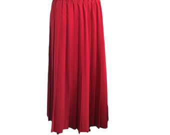 Long red skirt | Etsy