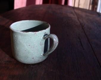 Mini mug // green // ceramic // stoneware