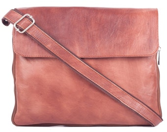Leather bag shoulder crossbody leather bag vintage