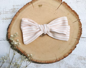 Peach Stripe Bow