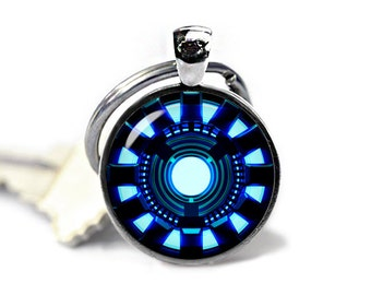 Arc Reactor Keychain Arc Reactor Keyfob Iron Man Keychain Superheroes Fandom Jewelry