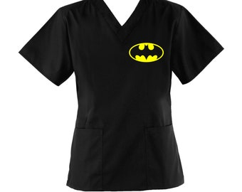 Batman Scrub Top