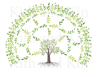 Genealogy Fan Chart Template - 3 Generations- BLANK