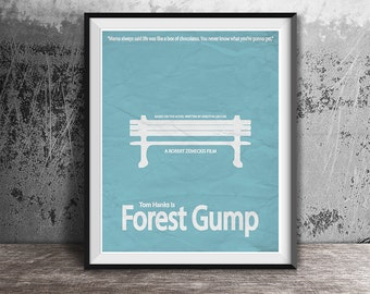 Movie poster print,Forest Gump-the movie printable poster,Alternative film poster,Minimalistic movie art,Instant Download,Printables