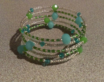 Oceanside Bracelet, Handmade Bracelet, Women's Bracelet, Turqoise Bracelet, One Size Fits All, BeadDazzledBoutiques