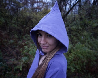 Lavender Dreams Fleece Pixie Hoodie