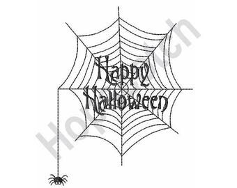 Halloween Web - Machine Embroidery Design